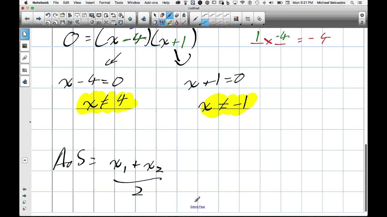 Intervals Of Increase And Decrease Grade 12 Advanced Functions