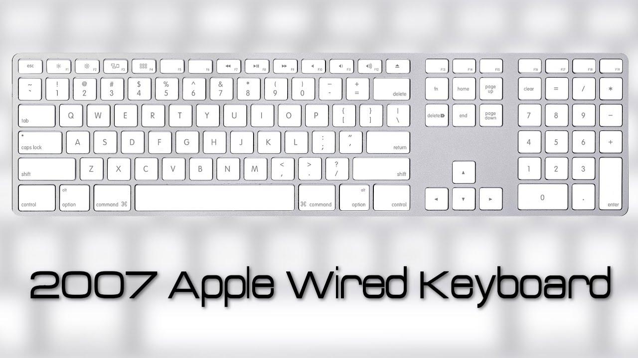 Apple Wired Keyboard Overview [EN/FR] - YouTube