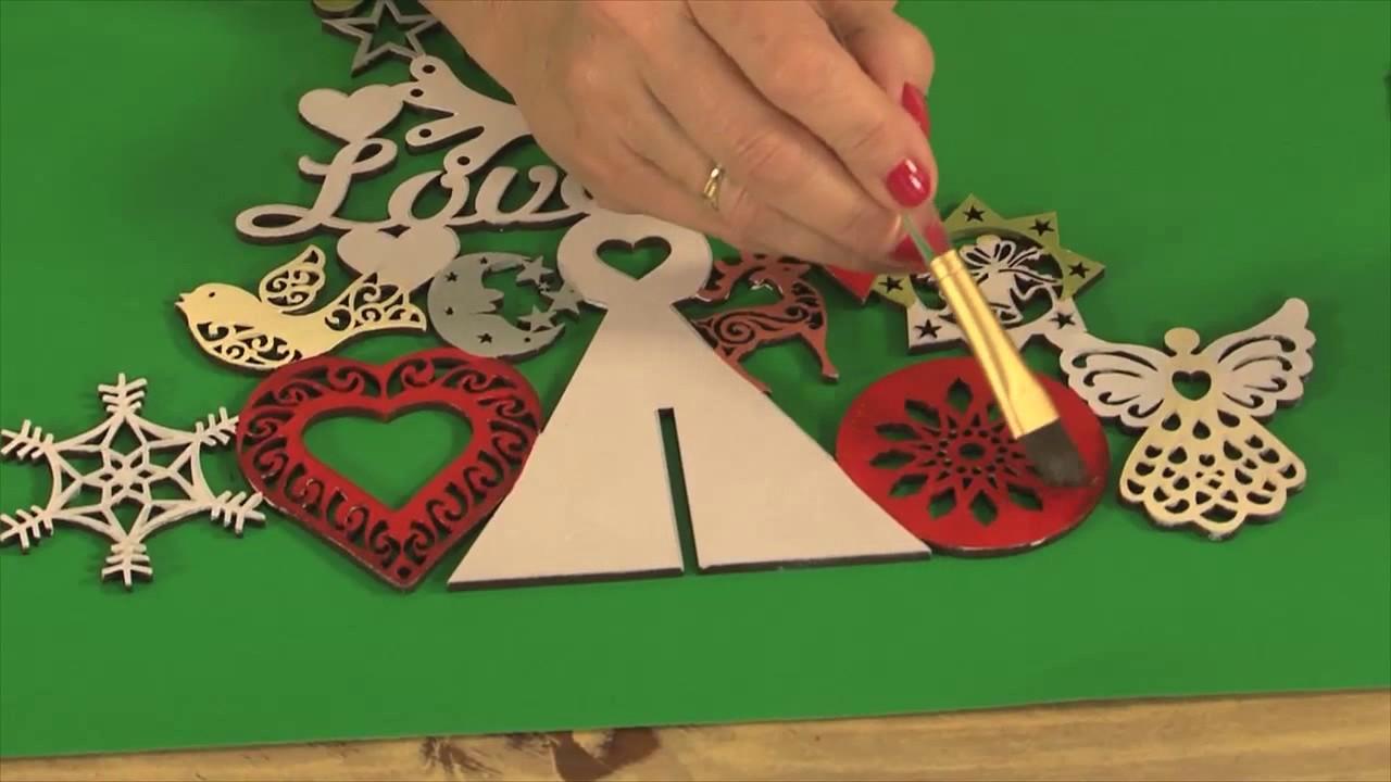 Pintar arbolitos de navidad en fibrofacil claudia kunze - Unas modelos para pintar ...