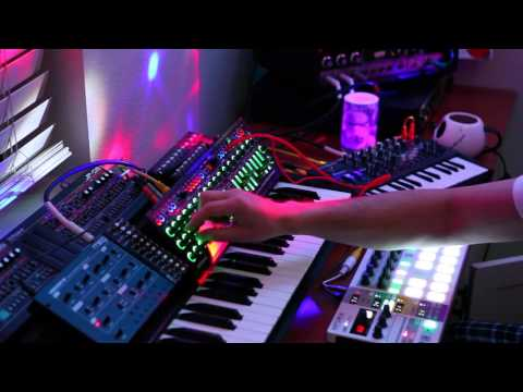 New Years Ambient Eve With Moog Werkstatt, Beatstep Pro, System 1m, Microbrute, Space Echo