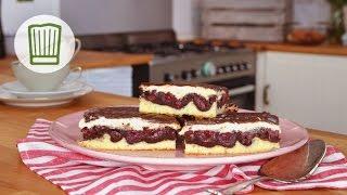Donauwelle - Kuchenklassiker mit saftigen Kirschen #chefkoch