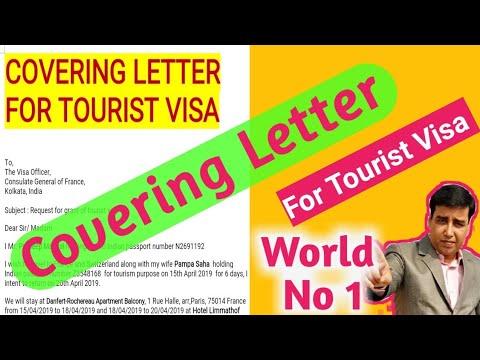 Covering Letter For Tourist Visa 2019