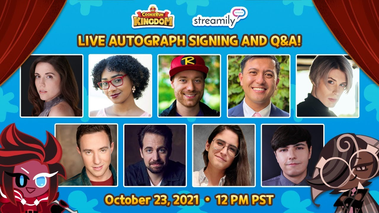 Cookie Run Kingdom LIVE Autograph Signing and Q&A