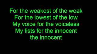 Heaven Shall Burn - Voice of the Voiceless - Lyrics