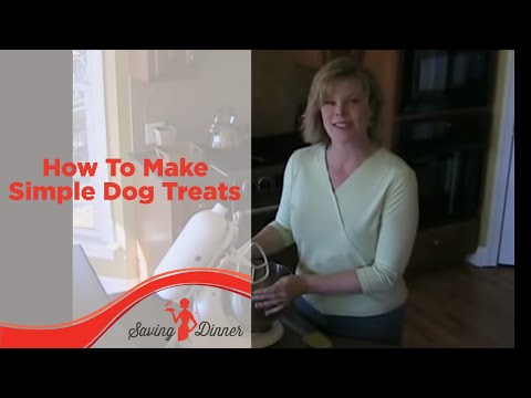 How to Make Simple Dog Treats by Leanne Ely of Saving Dinner