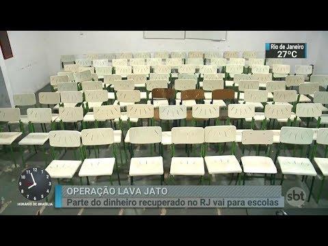 No Rio, parte do dinheiro recuperado pela Lava Jato irá para escolas | SBT Brasil (28/02/18)