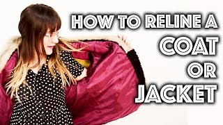 How To Reline a Coat or Jacket | Sew Anastasia