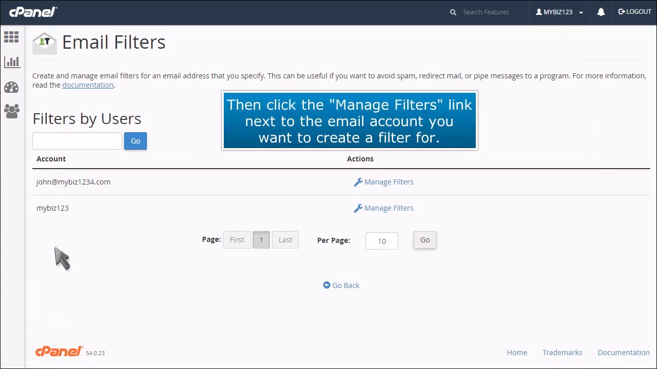 How To Set Up Email Filters In cPanel |