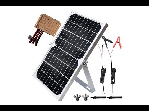 Tp Solar 10w 12vsolar Panel Trickle Charger Battery Maintainer Kits Solar Charge Controller Overview Youtube