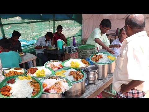 Best Hard worker Selling Roadside Street Food..Hyderabad | Chicken,Boti , Fish Rice @ 70 Rs Only