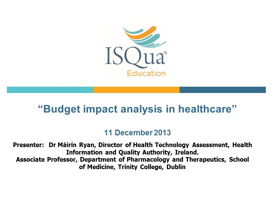 Budget Impact Analysis In Healthcare With Dr Mirn
