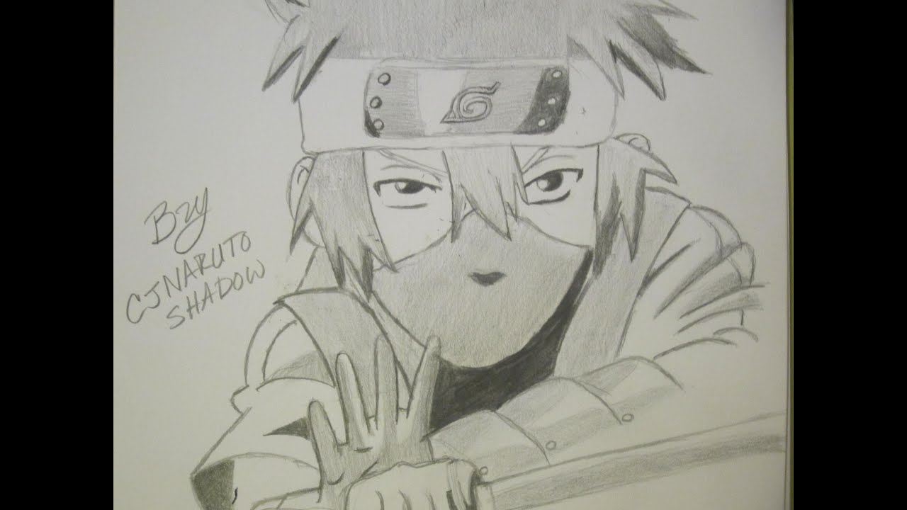 drawing kid kakashi naruto shippuden preparation for battle - Picture Of Drawing For Kid