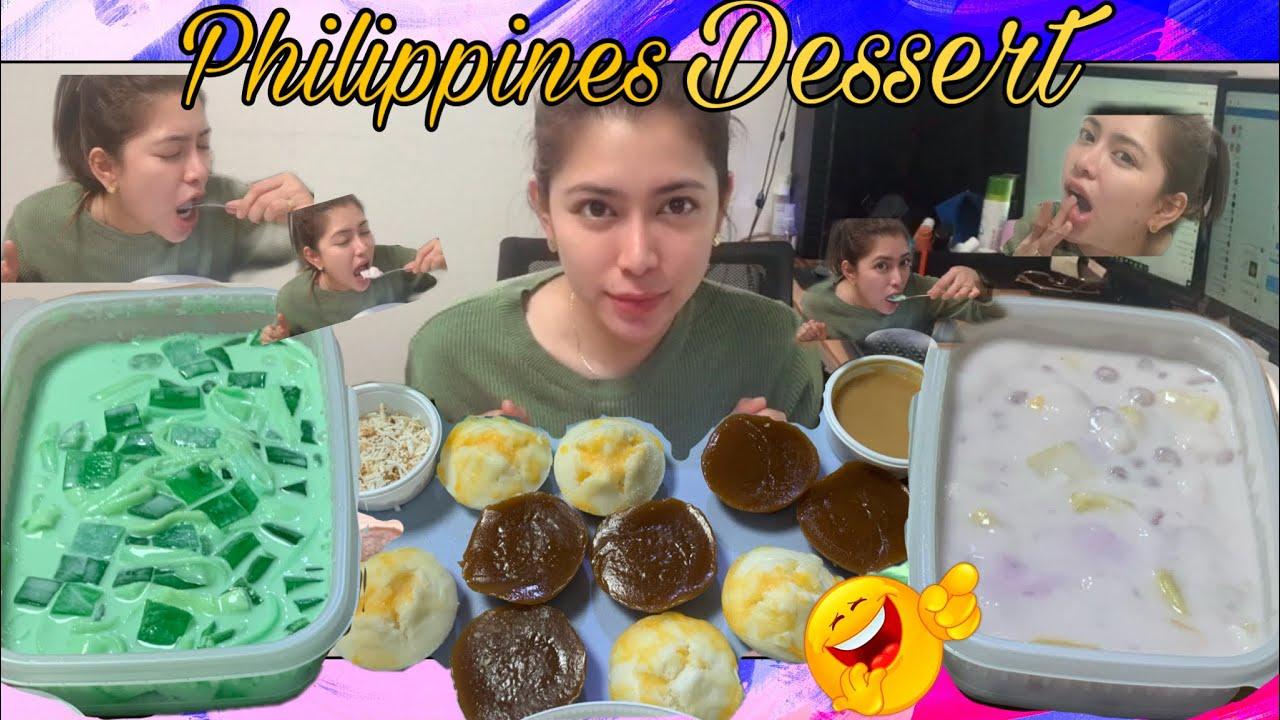 Filipino Desserts MUKBANG  Thailand Desserts Rice Ball ...
