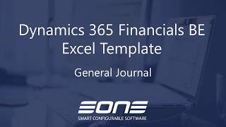 Excel Integration with Dynamics 365 Business Central - General Journal