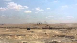 قناة السويس الجديدة : مشهد عام للحفر 21 أكتوبر 2014