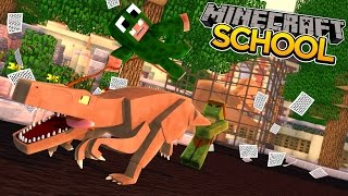 Minecraft School : DINOSAURS TRAP ALL OF THE STUDENTS!