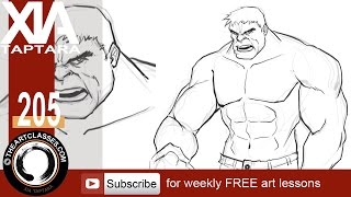 How to draw the Hulk