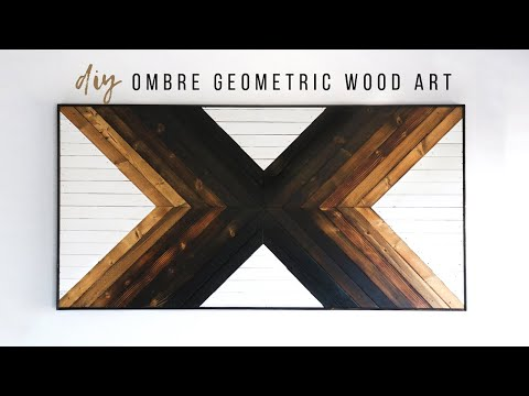 DIY Geometric Wood Burned Wall Art | How To Shou Sugi Ban