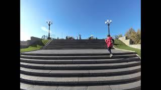 Прогулка по Мамаеву Кургану осенью 2021 года Волгоград, 4k, Полное видео без фишая