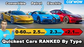 The quickest cars 0-60mph for every type of car!