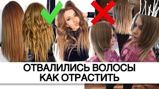 Как отрастить волосы Отвалились волосы после осветления