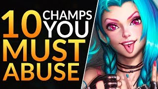 Top 10 BEST CHAMPS with BROKEN OP Power Spikes - Pro Tips to Solo CARRY | League of Legends Guide