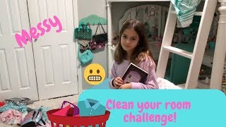 Cleaning my room challenge