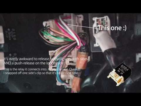 MX5 mk2.5 1.8 2004 vvt - Fuel pump relay location - YouTube on