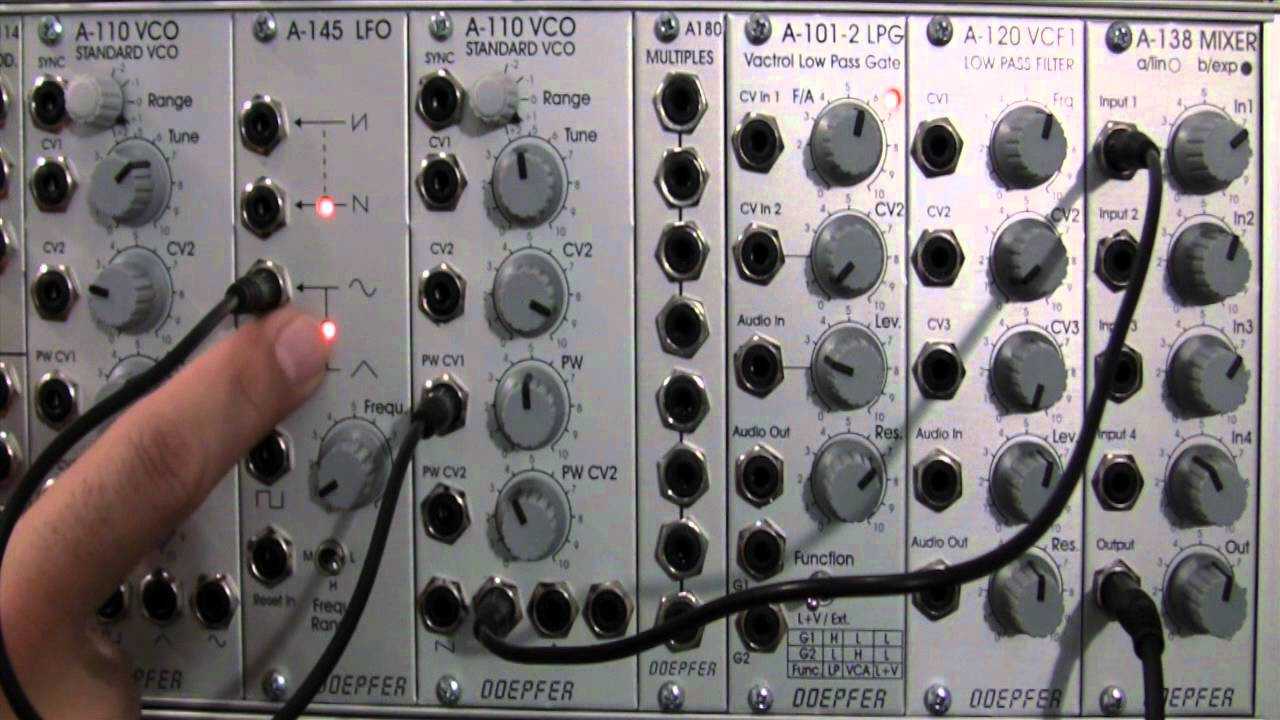 Doepfer A110 Vco A145 Lfo Pulse Width Modulation Youtube 8211 What Is It