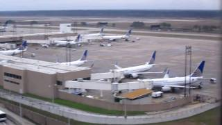 HD Tour of Houston Intercontinental Airport IAH and view of all the terminals