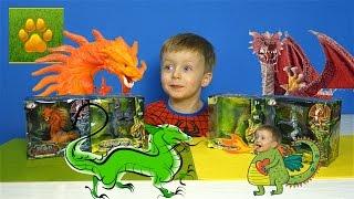 ДРАКОНЫ СТИХИЙ Игрушки Распаковка Обзор Игрушки ДРАКОНЫ Видео для Детей про Драконов Lion boy