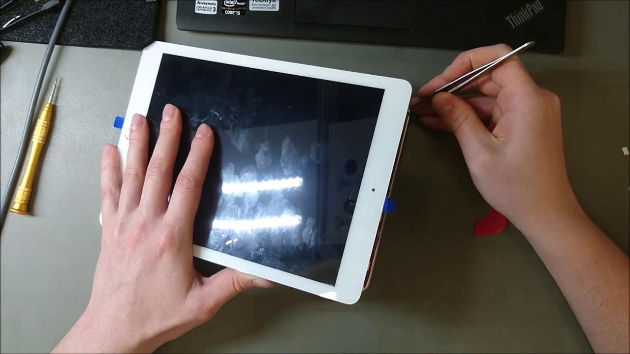 ipad air замена кнопки home видео