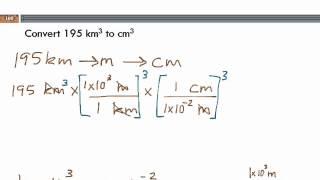 Unit Conversions Cubed Units Cubic Km Cubic Cm