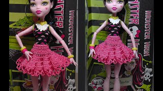 Юбка для Монстр Хай. Как вязать юбку для куклы. Куклы monster high