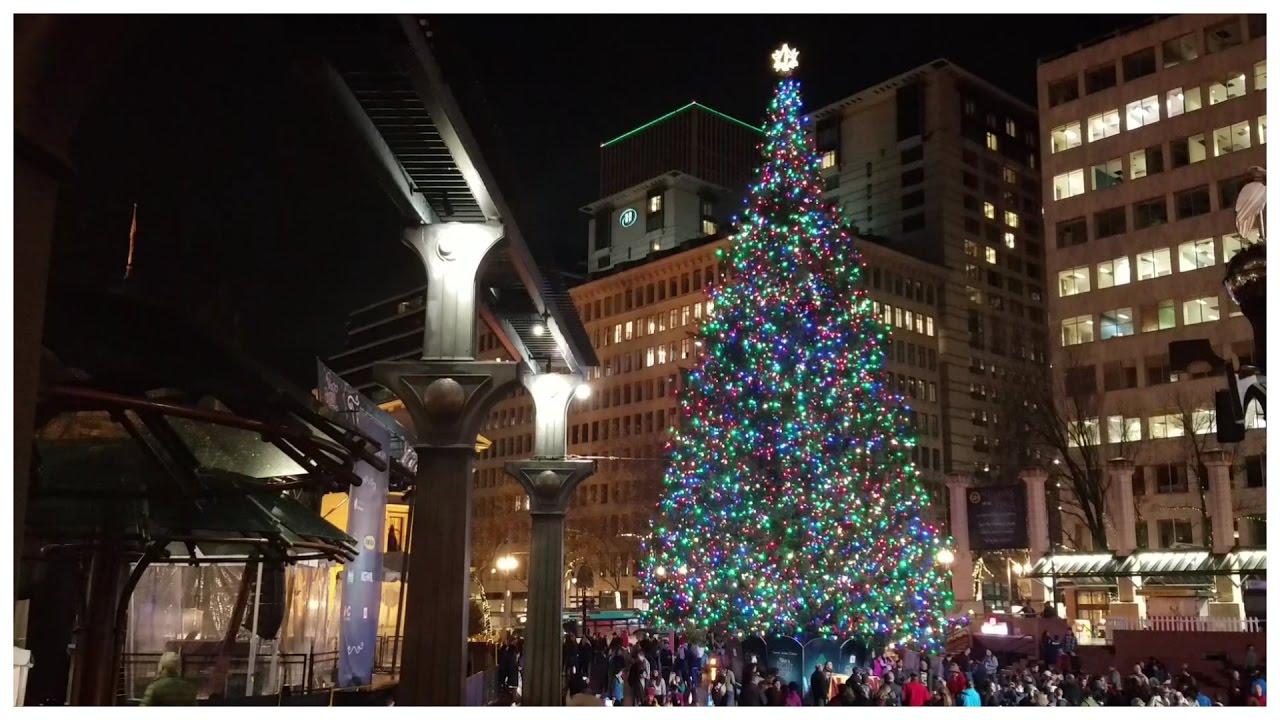 Portland Christmas Tree.Pioneer Square Christmas Tree Portland Oregon