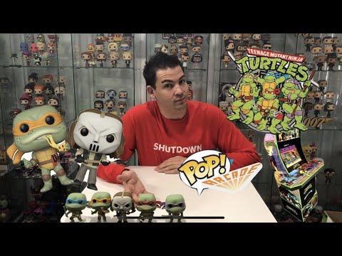 Glueing The Latest TMNT Funko POP! Vinyls to my Arcade 1Up Arcade Cabinet! + My POP! Music set. from The POP! Arcade