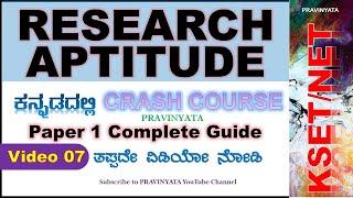Research Aptitude Crash Course  for KSET   KSET NET Exam Preparation Kannada   KSET exam Preparation