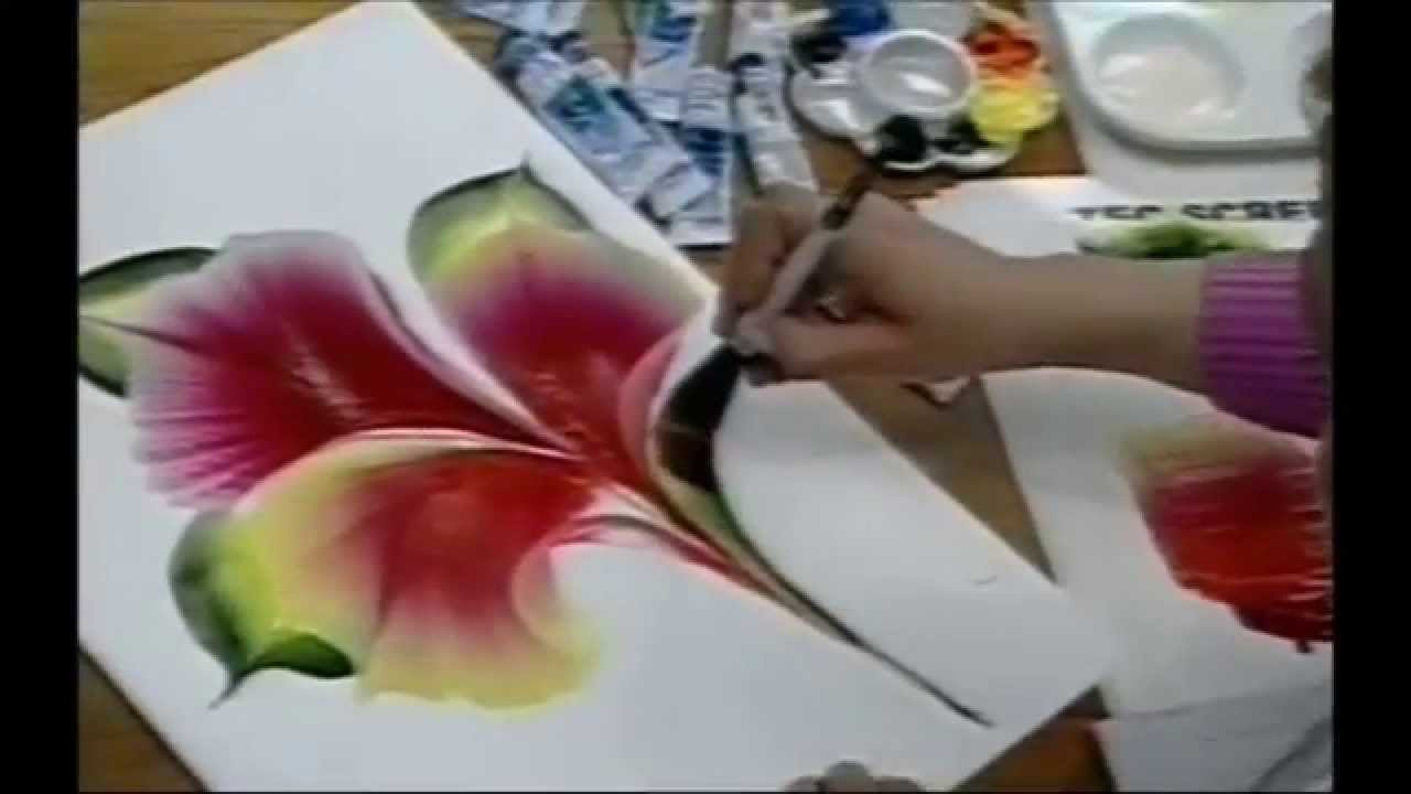 ONE STROKE FLOWER ON PAPER