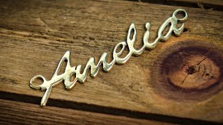 Easy Way to Hand Cut & Design A Name Necklace screenshot 4