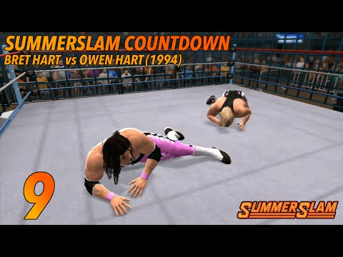 9. Bret Hart vs Owen Hart SummerSlam 1994 (WWE 2K14)