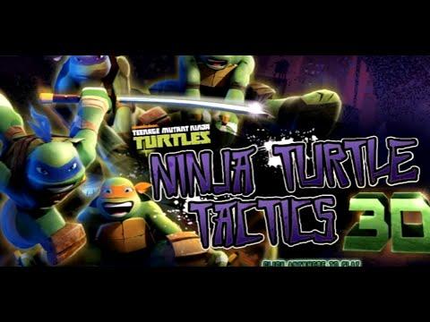 Проходение игры Черепашки Ниндзя Тактика 3Д/Passage of the game Ninja Turtles 3D Tactics