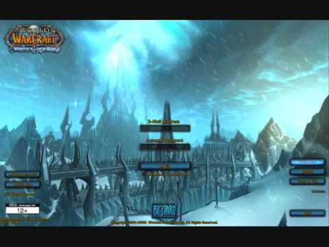 World of Warcraft Wrath of the Lich King Login Music