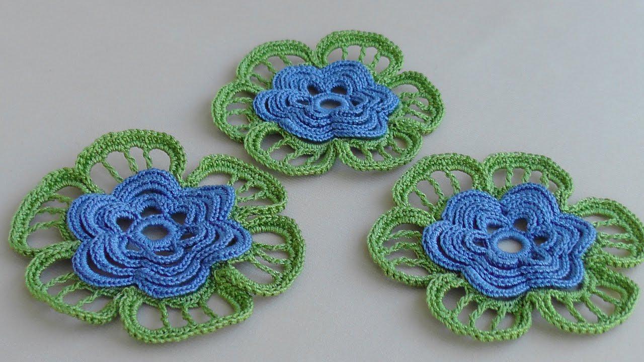 Вязания цветок