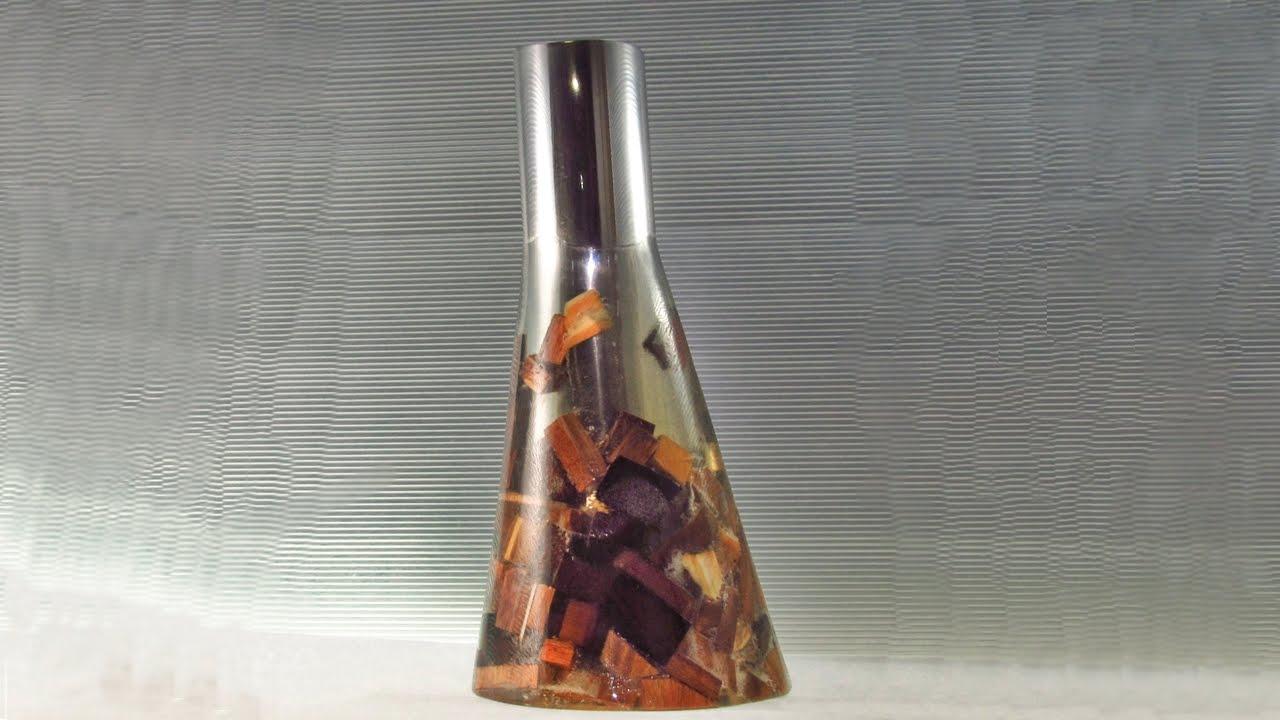 Vaso de lasquinhas de madeira e resina youtube for Armarios de resina para jardin