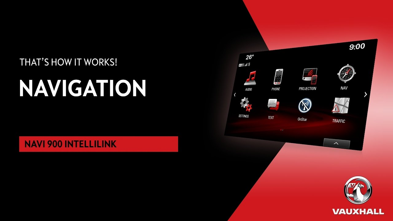 Navigation | Navi 900 IntelliLink | Vauxhall