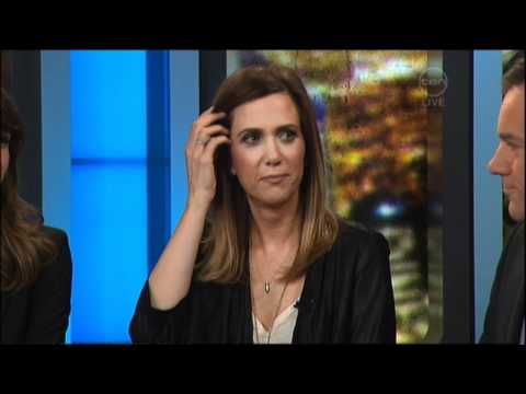 Kristen Wiig & Rose Byrne  on The 7pm Project Australia  Bridesmaids