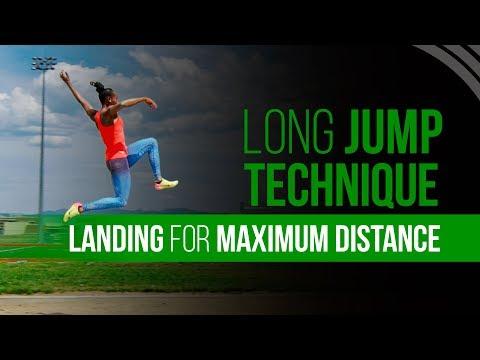 Long Jump Technique -  Landing For Maximum Distance