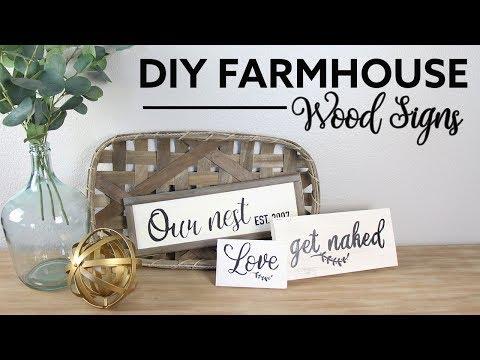 DIY Farmhouse Wood Signs | Señales Rusticas de Madera