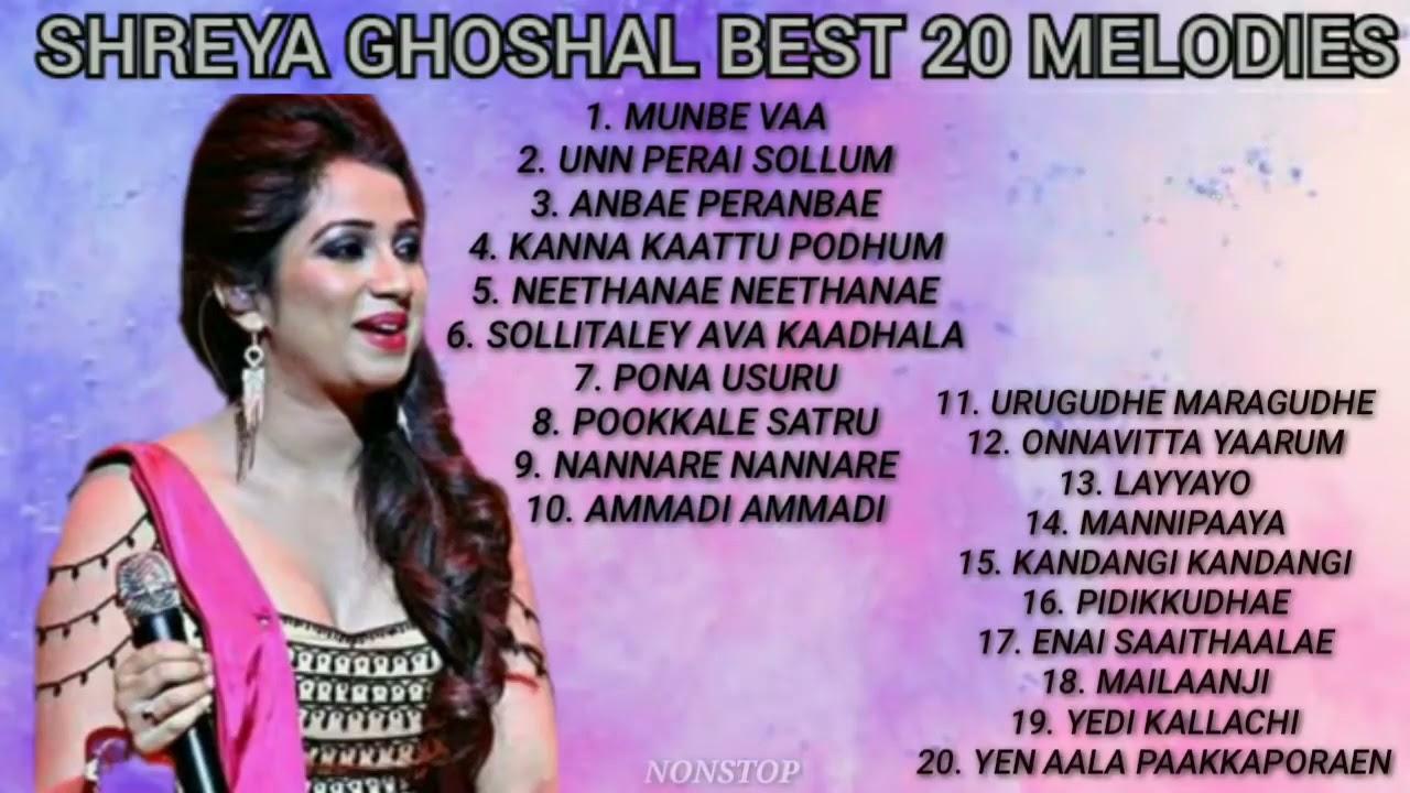 #SHREYA GHOSHAL BEST 20 OF SONGS TAMIL   #NONSTOP