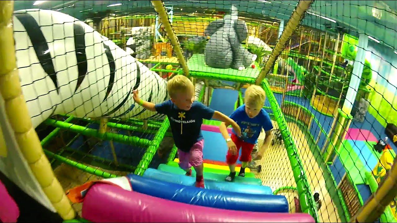 indoor playground slide youtube